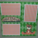 """Wild Things Tiger""-Premade Scrapbook Page 12x12"