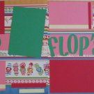 """Flip Flops dbl""-Premade Scrapbook Pages 12x12-Double Page Layout"