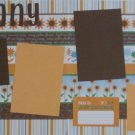 """Sunny Day a dbl""-Premade Scrapbook Pages 12x12-Double Page Layout"