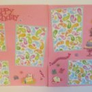 """Happy Birthday It's A Party dbl""-Premade Scrapbook Pages 12x12-Double Page Layout"