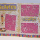 """Kindergarten dbl""-Premade Scrapbook Pages 12x12-Double Page Layout"