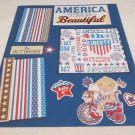 """America The Beautiful""-Premade Scrapbook Page -8x8 Layout"