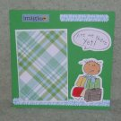 """""""Are We There Yet? Boy""""-Premade Scrapbook Page -8x8 Layout"""