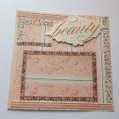 """Beauty""-Premade Scrapbook Page -8x8 Layout"