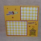 """Circus The Big Top""-Premade Scrapbook Page -8x8 Layout"