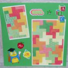"""Cool School""-Premade Scrapbook Page -8x8 Layout"