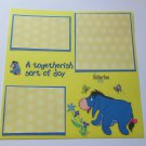 """""""Eeyore A Bother Free Day""""-Premade Scrapbook Page -8x8 Layout"""