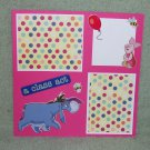 """""""Eeyore A Class Act""""-Premade Scrapbook Page -8x8 Layout"""