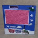 """Fun Stuff Train""-Premade Scrapbook Page -8x8 Layout"