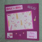 """""""Girl's Will Be Girls""""-Premade Scrapbook Page -8x8 Layout"""