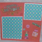 """""""Happy Birthday Candles""""-Premade Scrapbook Page -8x8 Layout"""