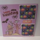 """Happy Haunting Goblins""-Premade Scrapbook Page -8x8 Layout"