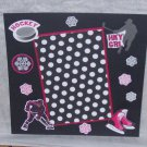 """Hockey Girl""-Premade Scrapbook Page -8x8 Layout"