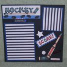 """Hockey Practice""-Premade Scrapbook Page -8x8 Layout"