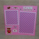 """Love Is In The Air Adorable""-Premade Scrapbook Page -8x8 Layout"
