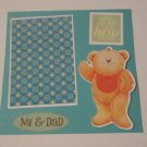 """Me and Dad bear""-Premade Scrapbook Page -8x8 Layout"