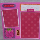 """My Valentine Sweethear""-Premade Scrapbook Page -8x8 Layout"