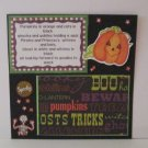 """Pumpkins Poem""-Premade Scrapbook Page -8x8 Layout"