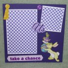 """Rabbit Take A Chance""-Premade Scrapbook Page -8x8 Layout"