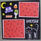 """Scary Cat""-Premade Scrapbook Page -8x8 Layout"
