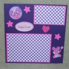 """Sesame St Abby Happy Heart""-Premade Scrapbook Page -8x8 Layout"