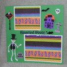 """Skeleton Haunted House""-Premade Scrapbook Page -8x8 Layout"