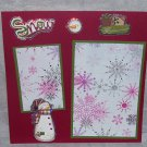 """Snow Snowman""-Premade Scrapbook Page -8x8 Layout"