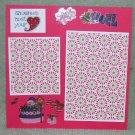 """Snowman Melt Your Heart""-Premade Scrapbook Page -8x8 Layout"