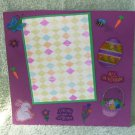 """""""Spring Has Sprung""""-Premade Scrapbook Page -8x8 Layout"""