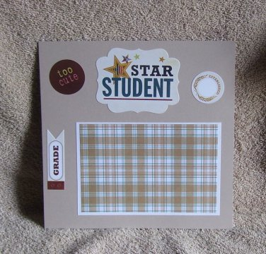 """""""Star Student a""""-Premade Scrapbook Page -8x8 Layout"""