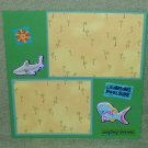 """Surfin Lessons""-Premade Scrapbook Page -8x8 Layout"