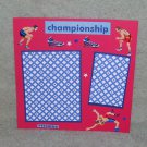 """Wrestlers 2""-Premade Scrapbook Page -8x8 Layout"