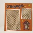 """O Holy Night""-Premade Scrapbook Page -8x8 Layout"