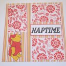 """Pooh Naptime""-Premade Scrapbook Page 12x12"
