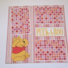 """Pooh Peek A Boo""-Premade Scrapbook Page 12x12"