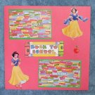 """""""Snow White Back To School""""-Premade Scrapbook Page 12x12"""