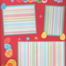 """""""Easter Chick""""-Premade Scrapbook Page -8 1/2 x 11""""  Layout"""