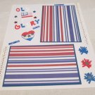 """""""Old Glory""""-Premade Scrapbook Page -8 1/2 x 11""""  Layout"""