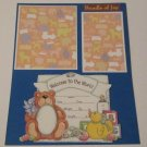 """""""Welcome To The World Bundle of Joy""""-Premade Scrapbook Page -8 1/2 x 11""""  Layout"""
