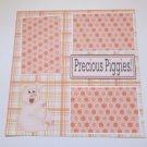 """Precious Piggies""-Premade Scrapbook Page 12x12"