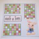 """""""Such A Ham Boy""""-Premade Scrapbook Page 12x12"""