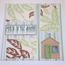 """""""Cabin In The Woods""""-Premade Scrapbook Page 12x12"""