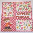 """Apple Pickin Boy""-Premade Scrapbook Page 12x12"