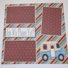 """""""Are We There Yet?""""-Premade Scrapbook Page 12x12"""