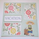 """Vacation Girl""-Premade Scrapbook Page 12x12"