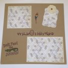 """""""Wild Things""""-Premade Scrapbook Page 12x12"""