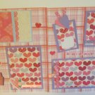 """""""Be Mine Girl rb dbl""""-Premade Scrapbook Pages 12x12-Double Page Layout"""
