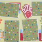 """Fingers Were Made Before Brushes dbl""-Premade Scrapbook Pages 12x12-Double Page Layout"