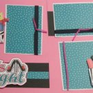 """""""Girl's Night dbl""""-Premade Scrapbook Pages 12x12-Double Page Layout"""