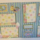 """""""Tea Party r dbl""""-Premade Scrapbook Pages 12x12-Double Page Layout"""